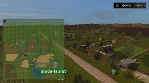 Схема карты Бухалово в игре Фермер Симулятор 2017