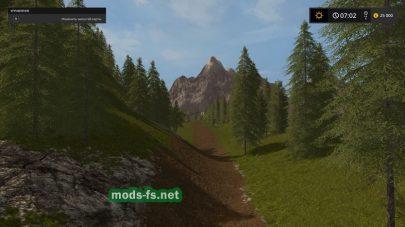 Большая карта с лесом