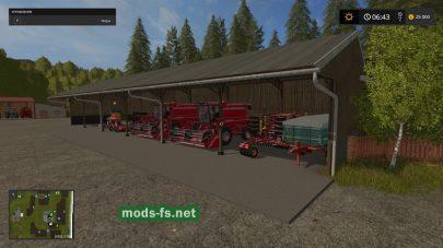Карат с большим количеством техники для Farming Simulator 2017