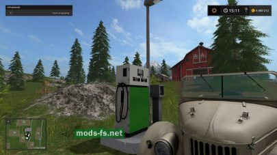 Мод объекта «Fuel station» для Farming Simulator 2017