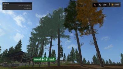 Мод деревьев Голубая ель для игры Фермер Симулятор 2017