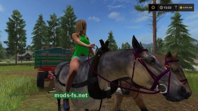 Farming Simulator 2017: мод Hard Working Horses