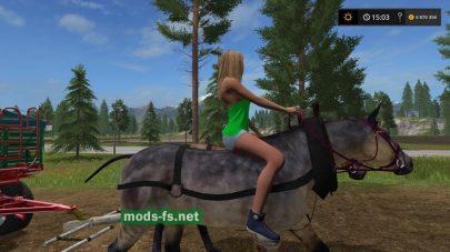 Мод на лошадь для Фермер Симулятор 2017