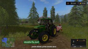 Мод трактора JD 6810