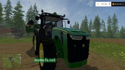 Мод JOHN DEERE 8400R для Farming Simulator 2015