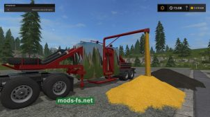 Мод прицепа для перевозки зерна в игре Farming Simulator 2017