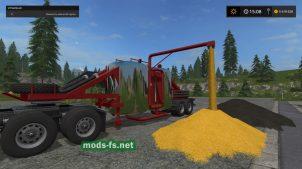Мод прицепа для перевозки зерна в игре Farming Simulator 2017