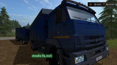 Грузовик КамАЗ-65221 для Farming Simulator 2017