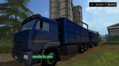 Мод КамАЗ-65221 с прицепом для FS 2017