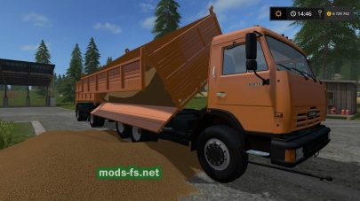 Мод грузовика КамАЗ самосвал для Фермер Симулятор 2017