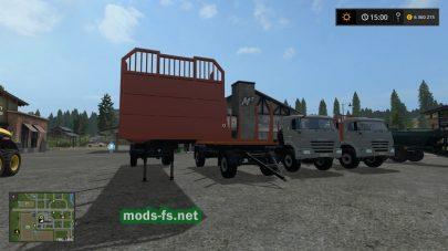 Мод грузовиков КамАЗ для перевозки бревен в Фермер Симулятор 2017