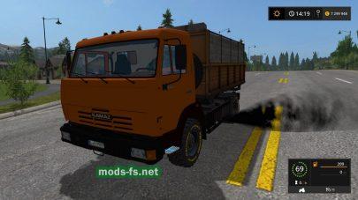 Скриншот мода «Kamaz Kipper»