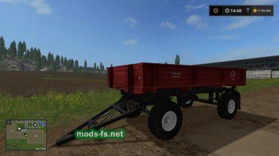 Прицеп для трактора в игре Фермер Симулятор 2017