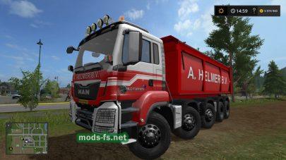Мод на грузовик MAN самосвал для FS 2017