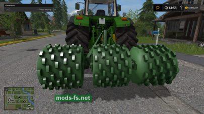 Мод Fendt Silowalze для трамбовки силоса в игре Farming Simulator 2017