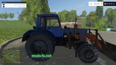 Мод трактора МТЗ-82 с погрузчиком ПКУ-0.8 для FS 2015