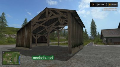 Мод Old Shed With Light Placeable для FS 2017