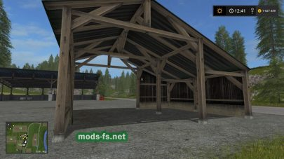 Скриншот мода Old Shed With Light Placeable