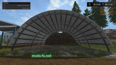 Farming Simulator 2017 мод навеса для силоса