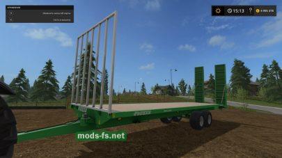 Мод прицепа для перевозки тюков в Фермер Симулятор 2017