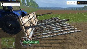 Мод на грабли для игры Farming Simulator 2015