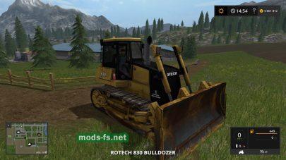 Бульдозер Rotech 830 Bulldozer для FS 2017
