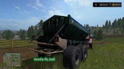 Мод русского разбрасывателя удобрений РУ-7000 для Farming Simulator 2017