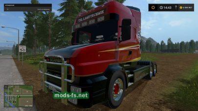 Мод тягача SCANIA T164 3-AXLE для FS 2017
