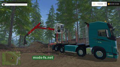 тягач Volvo 750 для перевозки леса в FS 2015
