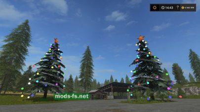 Новогодняя елка для Farming Simulator 2017