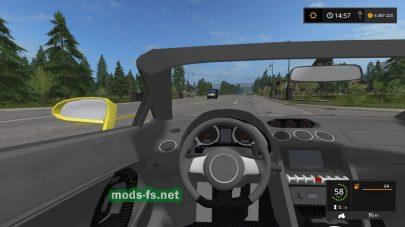 Мод Lamborghini Gallardo Spyder для Farming Simulator 2017
