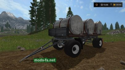 Мод прицепа с бочками Farming Simulator 2017