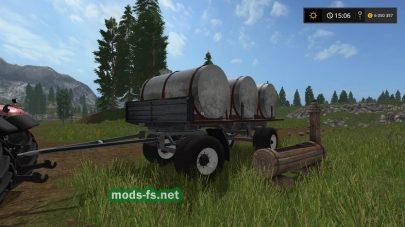 Моды бочек для молока и воды в Farming Simulator 2017