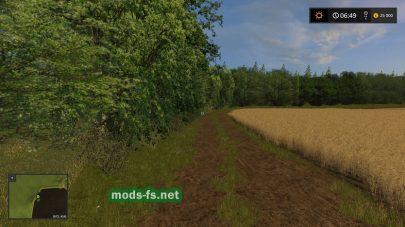 Поле и лес на карте Черкащина