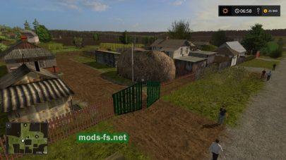 Украинская деревня в игре Farming Simulator 2017