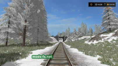 Текстуры снега для Зимняя карта для Farming Simulator 2017