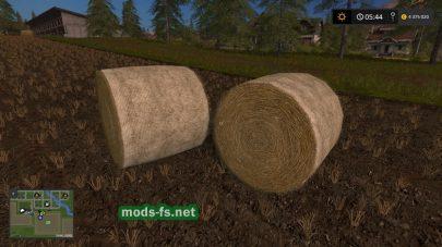 Круглые тюки в игре Фермер Симулятор 2017