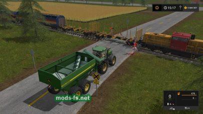 Мод на постоянное движение поездов в Farming Simulator 2017