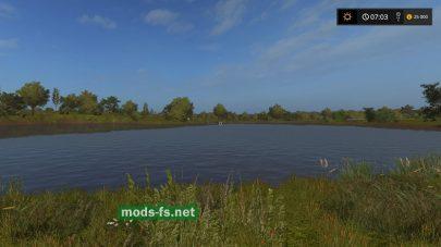 Карта с озером для игры FS 2017