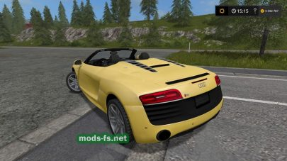 Мод AUDI R8 V10 Spyder для Farming Simulator 2017