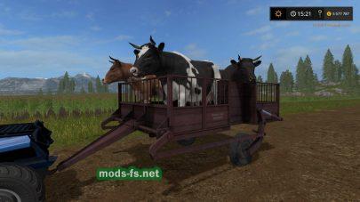 Мод тележки TT-1 для перевозки животных в Фермер Симулятор 2017