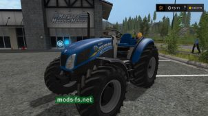 "Мод мини трактора ""New Holland T4 75 Garden Edition"" для Farming Simulator 2017"