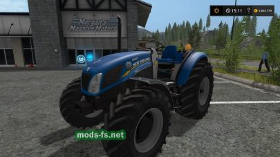 Мод мини трактора «New Holland T4 75 Garden Edition» для Farming Simulator 2017