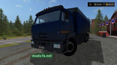 Мод грузовика Камаз-65221 для Farming Simulator 2017
