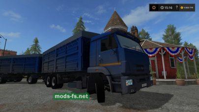 Мод Камаз-65221 с прицепом