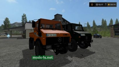 Грузовики Mercedes Unimog 1600 4 Variants для FS 2017