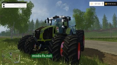 Мод трактора CLAAS AXION 950