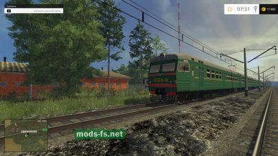 Поезд на карте Совхоз Родина