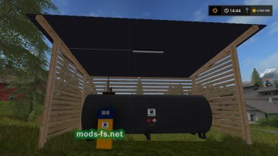 Мод Gas station with shelter and night light для FS 2017