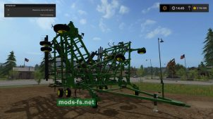 культиватор JOHN DEERE для Farming Simulator 2017